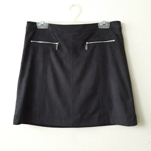 Turo By Vince Camuto black faux suede mini skirt